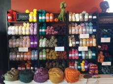 Brown Sheep, Done Roving, Good Karma Farm, Jaggerspun, Kraemer, Peace Fleece, String Theory, Shearer's, Swan's Island.