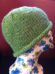 Students make this cute, roll-brim hat as a first project.