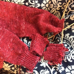 Pick up a row of stitches, cut the row below and knit away!